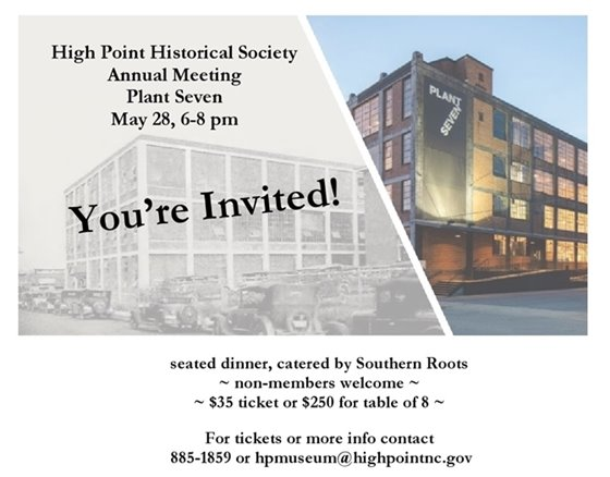 High Point Historical Society Annual Meeting