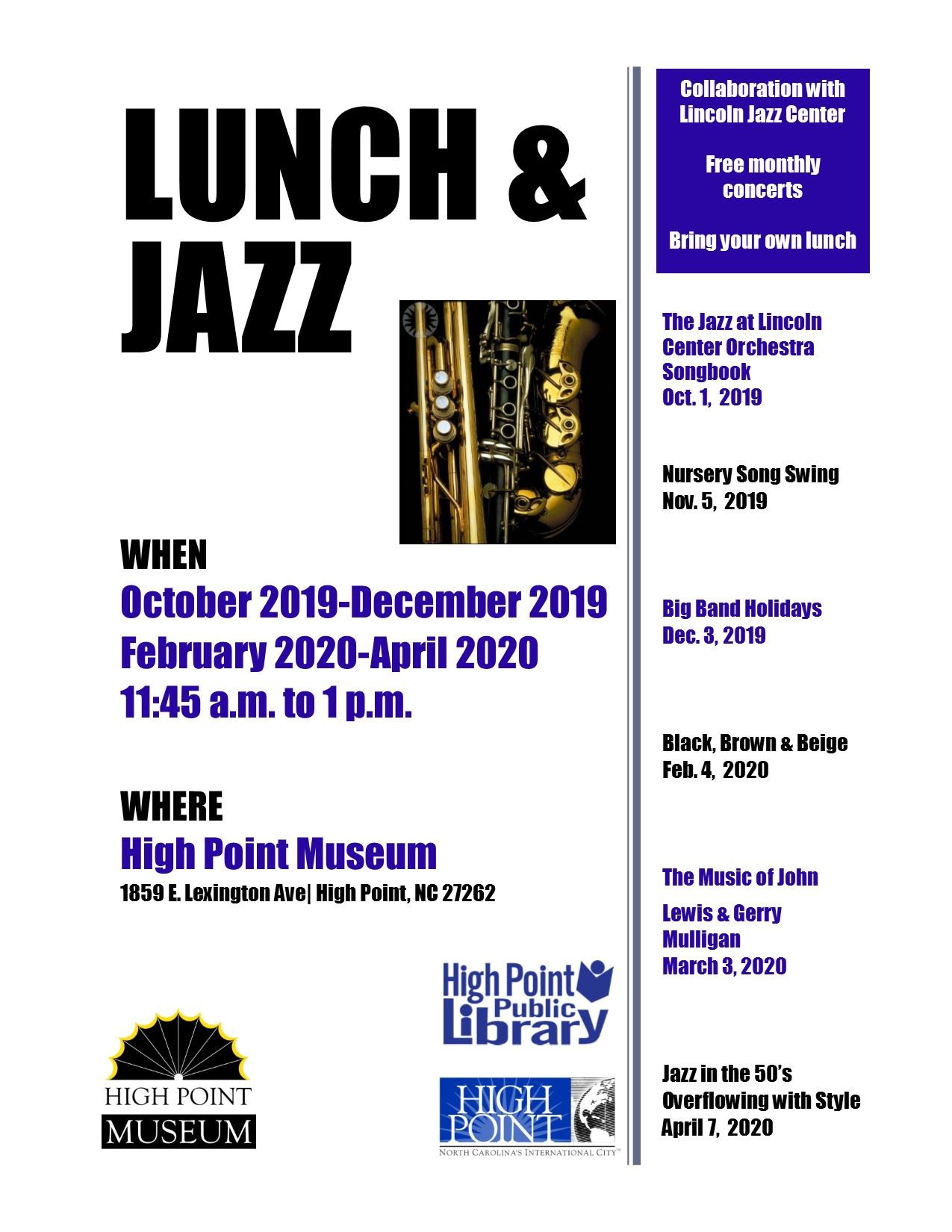 Lunch and Jazz 2019-2020