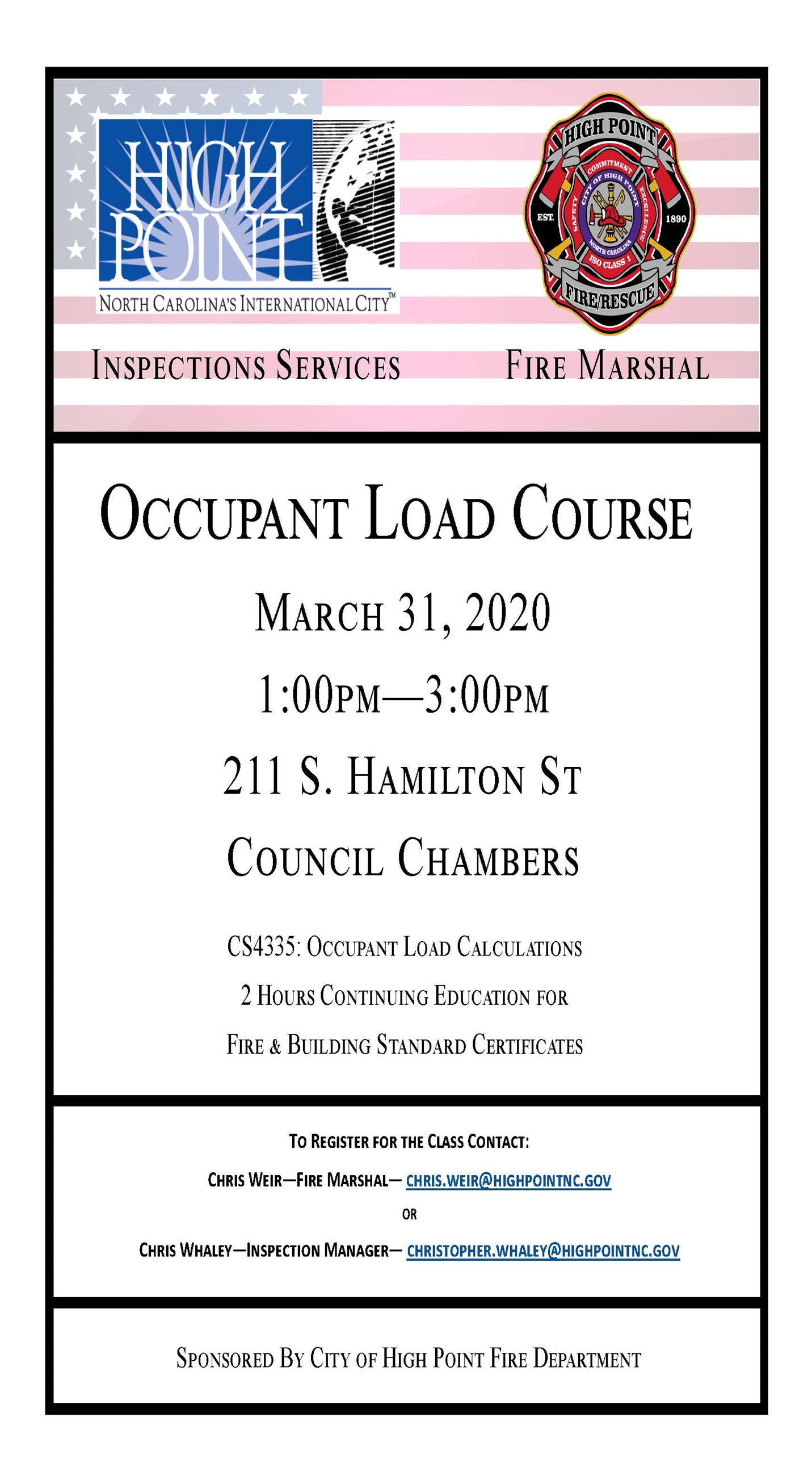 Flyer Occupant Load Course 3-31-20