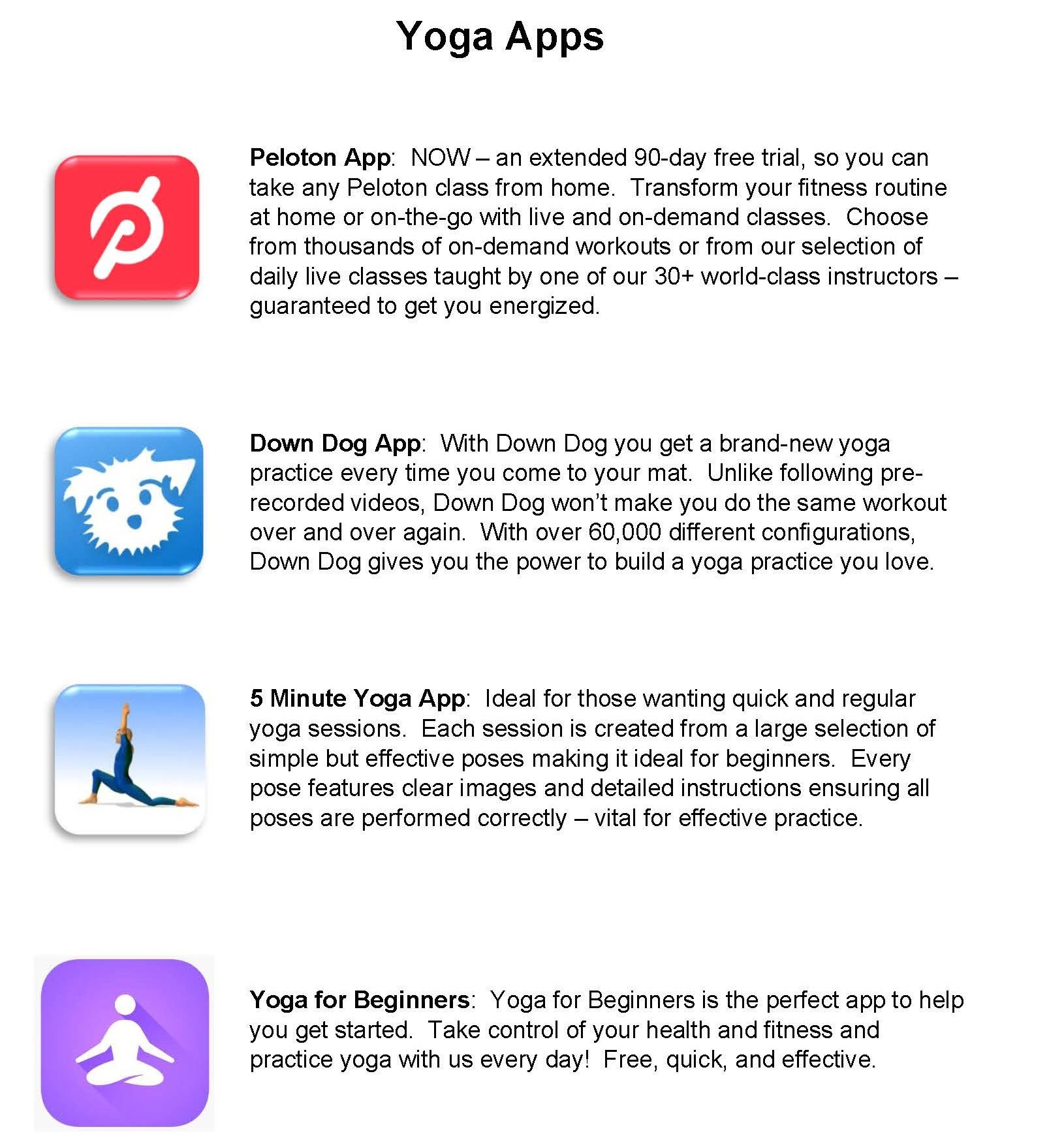 Yoga Apps 041520
