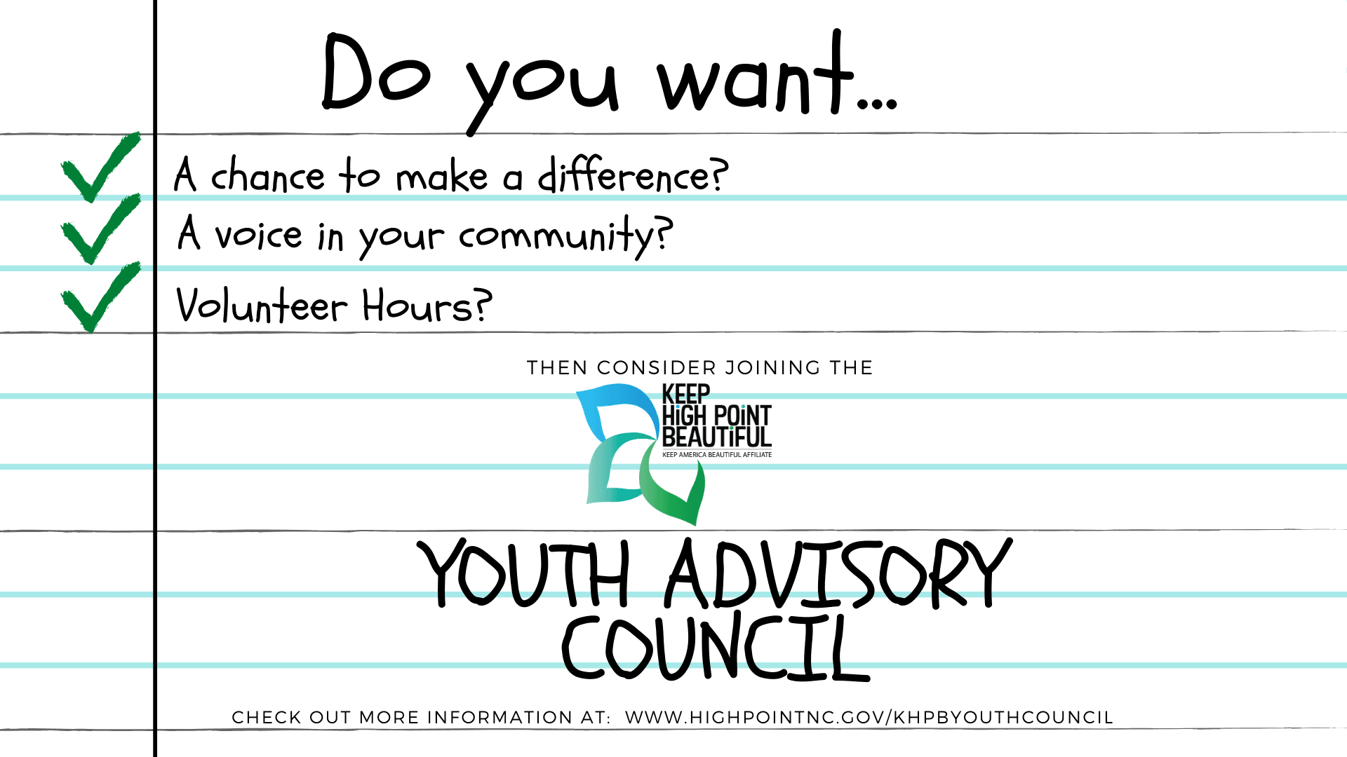 Reasons to join youth council